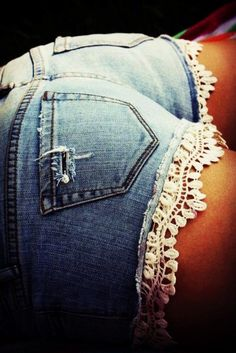 shorts denim lace denim lace shorts crochet bottom low rise destroyed booty shorts jean shorts lace trim white lace