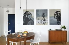 Mieszkanie na Woli   Apartment in Wola, Warsaw - Marta Czeczko - architektura wnętrz   interior design Dining Room, Interiors, Home Decor, Decoration Home, Room Decor, Decor, Home Interior Design, Dining Rooms, Restaurant