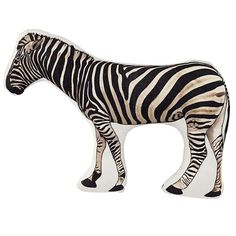 Irresistible Zebra Throw Pillow from @The Land of Nod