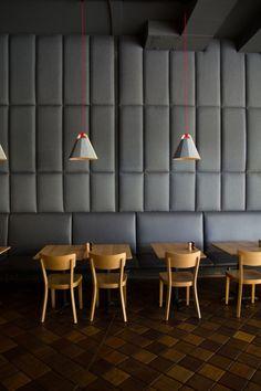 Frankie Pendant Lights In Scopa Cafe Wellington. Http://www.designtree.