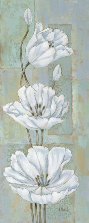 White Flowers (Decorative Art) Posters at AllPosters.com