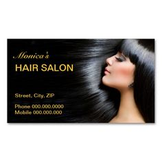 Hair Salon Business Card. Make your own business card with this great design. All you need is to add your info to this template. Click the image to try it out!