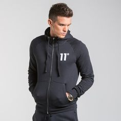 11 Degrees - Core Hoody Black   Comfort Meets Style This AW16 With The New Core Collection From 11 Degrees. Our Hoodies Are An Essential And Come In A Range Of Colours To Suit Every Individual – Which Will You Choose?