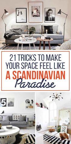 21 Tricks To Make Your Space Feel Like A Scandinavian Paradise