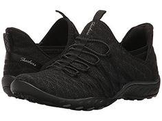 Skechers Sport Women's Breathe Easy Fashion Sneaker,Black,8.5 M US