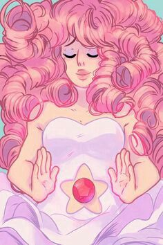 Rose Quartz (from Steven Universe). She is Steven's mother and a CrystalGem. We (the fans) are not pretty sure what happened to her, but we have some headcanons/theories about her. Sometimes, pepole compare her to Serenity (from Sailor Moon), and I couldn't help but see the itty-bitty similarities they have. I repeat, we're not sure of her fate, but we hope to see a Rose-centric episode about her fate...Maybe one day.
