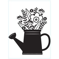 New - Darice® Embossing Folder - Flowers in Watering Can - 4.25 x 5.75 inches, scrapbooking card making greeting cards, invitations and more #HandmadeCards #embossing #emboss #scrapbooking #DariceEmbossing #ScrapbookSupplies #stamping #CardMaking #dies #EmbossingFolder