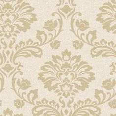 Aurora Wallpaper in Beige and Gold from the Midas Collection by Graham & Brown