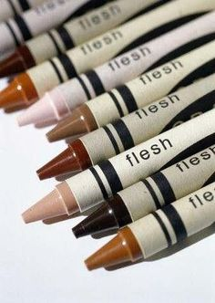 Flesh Tone Crayons. Wish we had these when I was growing up!