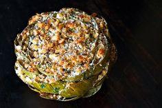 The Ultimate Stuffed Artichoke Recipe  Garlicky, lemony, buttery, artichokey deliciousness