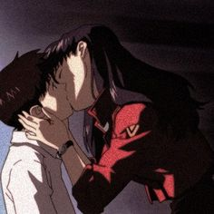 Image about love in —𝘳𝘦𝘵𝘳𝘰 𝘢𝘯𝘪𝘮𝘦 by 𝘱𝘦𝘵𝘪𝘵 𝘤𝘩𝘰𝘶 - Evangelion Fan Art Anime, Anime Love, Old Anime, Anime Manga, Aesthetic Anime, Aesthetic Art, Anime Style, Illustration Studio, Couples Anime