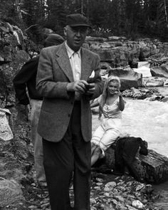 Marilyn with director Otto Preminger on the set of River of No Return, 1953.