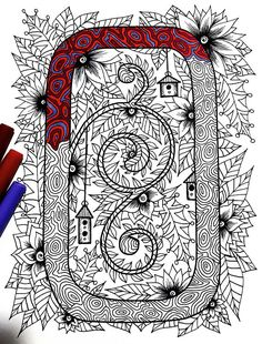 "Letter O Zentangle - Inspired by the font ""Penelope"""