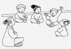 Dibujos para colorear - Las reglas del salón