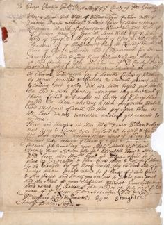 Salem Witch Trials: Rebecca Town Nurse's death warrant: topic, pictures and information - Fold3.com
