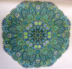 Hamsa ArtMandalas In 25 Mandalas A Colorier Simple Things Magazine LouisaR