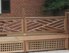 stylish ornate wood railing this creative idea with geometric