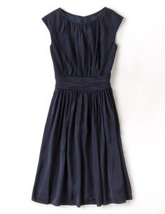 I have this dress - its the perfect cocktail dress for me. Modest, simple, pretty, and comfortable. Selina Dress Navy