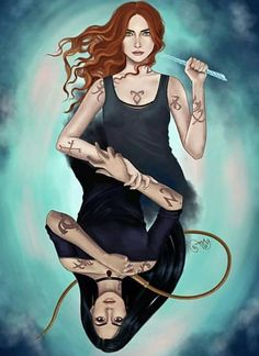 Hi guys! This art of Clary and Izzy I did for wonderful ❤ It's part of Christmas Advent Box (love idea of it so much! Cassandra Clare Shadowhunters, Shadowhunters Malec, Livros Cassandra Clare, Cassandra Clare Books, Mortal Instruments Books, Shadowhunters The Mortal Instruments, Native American Symbols, Native American History, American Indians