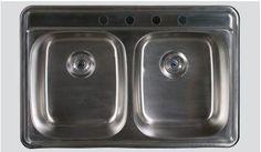 $260 measurement? Oliveri S163-X Stainless Steel Sink, Double Basin, Topmount