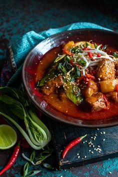 This spicy dish is inspired by the Korean dish, Gamjatang, a traditional and aromatic pork and potato stew. Perfect for wintery evenings in. Supper Recipes, Spicy Recipes, Pork Recipes, Baby Food Recipes, Cooking Recipes, Korean Recipes, Spicy Dishes, Potato Dishes, Pork Dishes