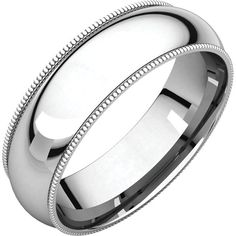 Men's 6mm Platinum With Milgrain Band