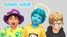 ahh doesn't this hair look so cute on toddlers!!  i made the hat chop myself which i had never done before so be sure to tell me if you see any issues because i'm sure there are..!  • all 18 EA swatches • hat compatible DOWNLOAD