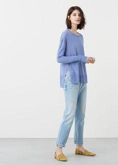 Fine-knit sweater - Woman | MANGO