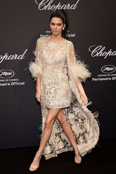 CANNES, FRANCE - MAY Kendall Jenner attends the Chopard Party during the annual Cannes Film Festival on May 2016 in Cannes, France. (Photo by Stephane Cardinale - Corbis/Corbis via Getty Images) Kendall Jenner Outfits, Kendall And Kylie Jenner, Balmain Dress, Famous Girls, Poses, Nice Dresses, Engagement Timeline, Engagement Gifts, Engagement Pictures