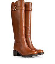 SALVATORE FERRAGAMO Leather Robespierre Boots in Tan ($935.00)