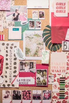 Moodboards d'inspiration par C by Clémence : mon exposition au salon Créations et Savoir-Faire Printemps - C by Clemence / moodboard / planche tendance / DIY #moodboard #planchetendance #printemps #formes #couleurs #inspirations #decoration #references #badass #girls #cbyclemence #diy / www.cbyclemence.com @cbyclemence Tape Art, Composition D'image, Moodboards, Moodboard Inspiration, Visualisation, Collages, Gallery Wall, Room Decor, Templates