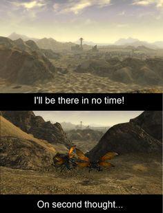 First time playing Fallout New Vegas via Reddit user Luke4397