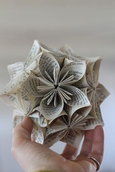 Kusudama are a Japanese creation originally used for incense and potpourri and are now used most often as decorations or unique gifts.