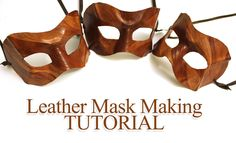 Tutorial How to Craft Leather Masks  step by step guide by OakMyth, $5.00