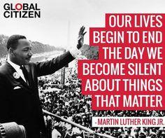 Speak up! Speak out!