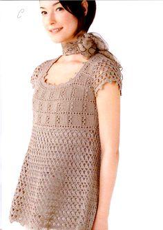 15 Elegant Crochet Tunics With Diagrams | Beautiful Crochet Stuff