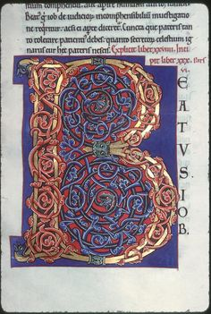 Illuminated Letters, Illuminated Manuscript, Germanic Tribes, Beautiful Calligraphy, Art Sites, Lost Art, Anglo Saxon, Letter B, Medieval Art