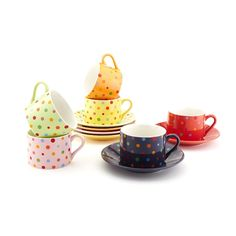 polka dot tea cups