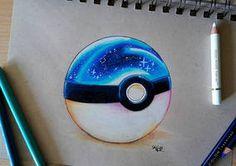 foxy by SkyKristal on DeviantArt galaxy pokeball by SkyKristal. Dark Drawings, Realistic Drawings, Colorful Drawings, Cool Drawings, Pokemon Sketch, Galaxy Colors, Manga Drawing Tutorials, Cute Disney Drawings, Cute Pokemon Wallpaper