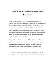 CRJ308   CRJ 308   Week 3 DQ 1 Social Reinforcers and Punishers --> http://www.scribd.com/doc/148411880/crj308-crj-308-week-3-dq-1-social-reinforcers-and-punishers