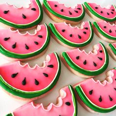 Ombré watermelon cookies by Hayleycakes and cookies