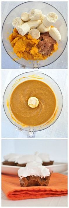 Paleo Pumpkin Pie Cupcakes: no flour, no refined sugar and totally delicious.