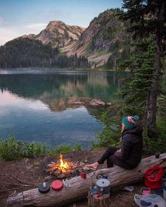 Camping. Hiking. Lake. Mountains. Campfire.Peaceful. Outdoors. Nature.Trails. National Parks.