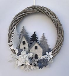 Sewing Diy Vintage 41 Ideas Diy Crafts Vintage, Christmas Makes, Christmas Holidays, Ch Christmas Makes, Noel Christmas, Winter Christmas, Vintage Christmas, Felt Wreath, Diy Wreath, Wreath Ideas, Grapevine Wreath, Christmas Projects