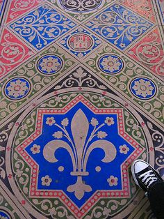 floor tiles in La Sainte-Chapelle, Paris, France
