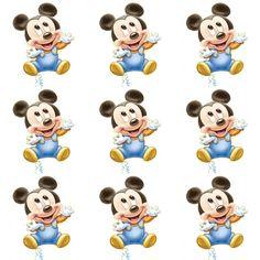Bolo Mickey Baby, Festa Mickey Baby, Mickey Mouse Banner, Theme Mickey, Fiesta Mickey Mouse, Minnie Baby, Mickey Party, Mickey 1st Birthdays, Mickey Mouse 1st Birthday
