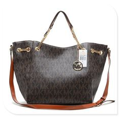 Take Michael Kors Chain Large Coffee Totes In Your Hand To Add Your World More Colors