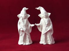 Ceramic Wizard Cake Toppers ready to paint hand made 6