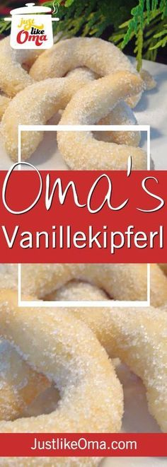 Vanillekipferl are an almond cookie which is very similar to a shortbread cookie, but made with ground almonds. Traditional for a German Christmas, it tastes great all year long. ❤️ Vanillekipferl - Almond Cookie Recipe baked Just like Oma * - German Christmas Cookies, German Cookies, German Cake, Xmas Cookies, Christmas Desserts, German Christmas Traditions, Dutch Cookies, Dutch Recipes, Baking Recipes