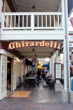 Visit the chocolate factory at Ghiradelli Square, San Francisco